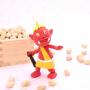 節分の豆と鬼の人形